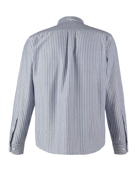 long sleeve shirt striped blue white product back