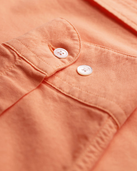 peach long sleeve oxford shirt detail sleeve