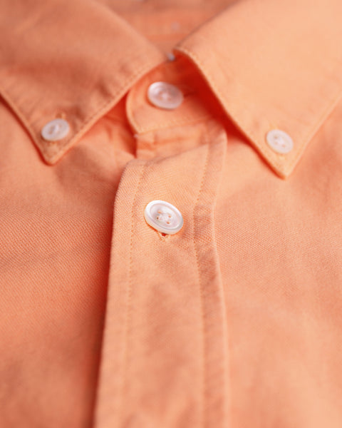 peach long sleeve oxford shirt detail button