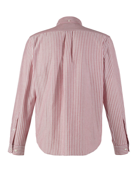 long sleeve shirt stripe red white product back