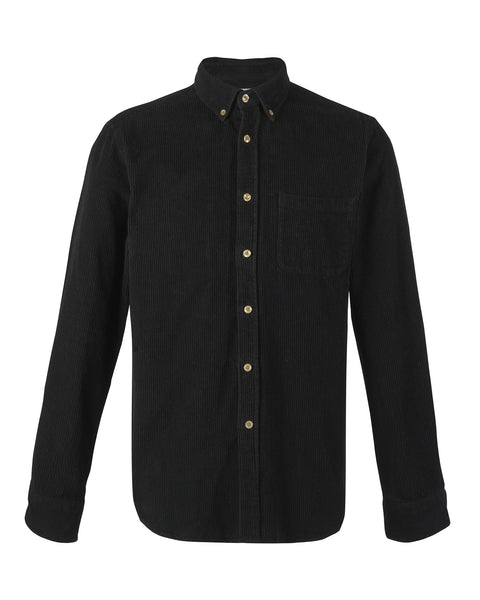 corduroy shirt black product  front