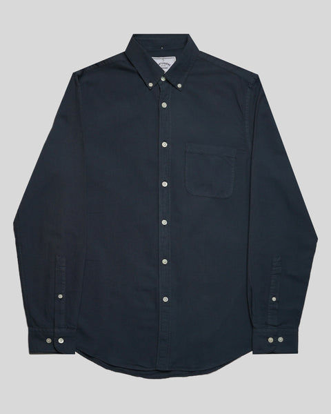 navy long sleeve shirt oxford product front