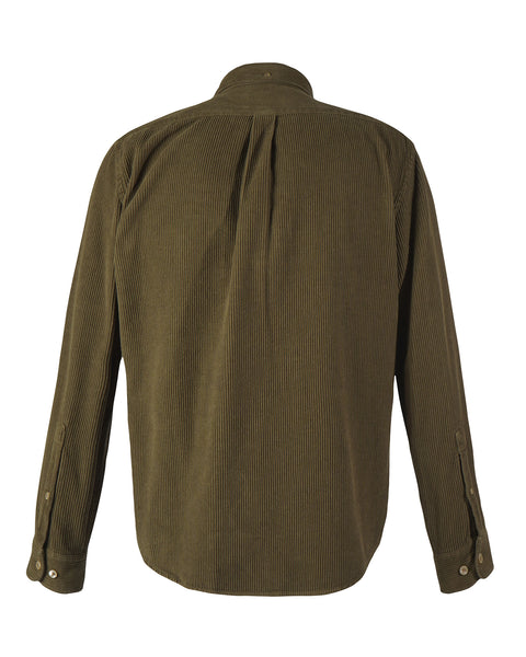 corduroy shirt olive green product back