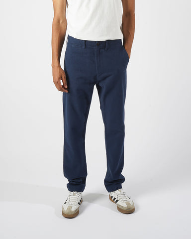 flannel trousers navy blue model front