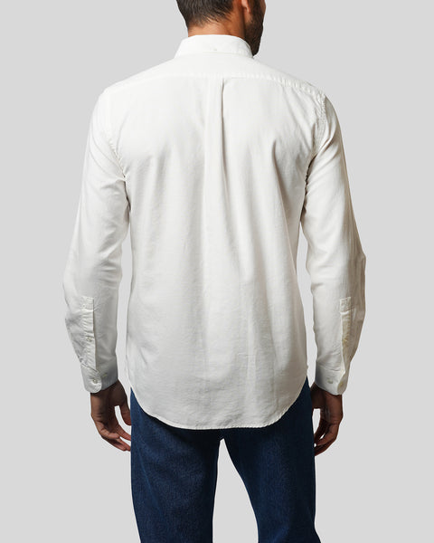 white long sleeve shirt oxford model back