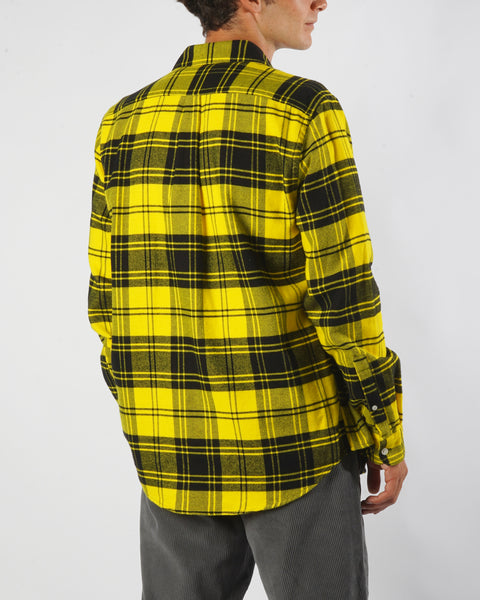 vila yellow shirt model back