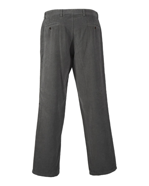 trousers corduroy grey product back