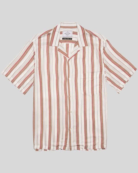 stripe red brick short sleeve shirt product front