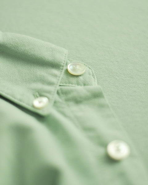 long sleeve shirt frosty green detail button