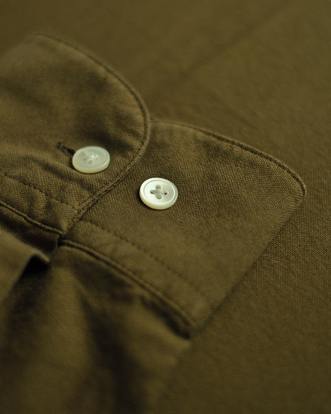 long sleeve shirt olive detail button