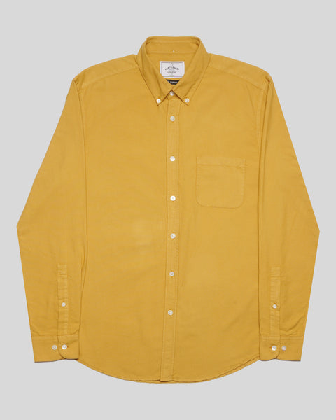 mustard long sleeve shirt oxford produc front