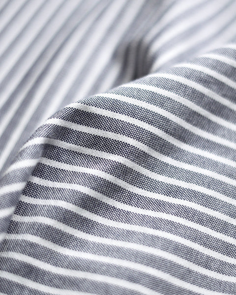 long sleeve shirt striped blue white detail fabric