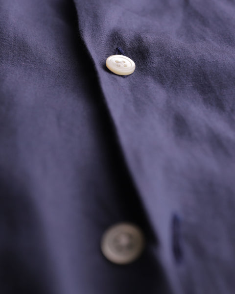 blue short sleeve shirt detail fabric