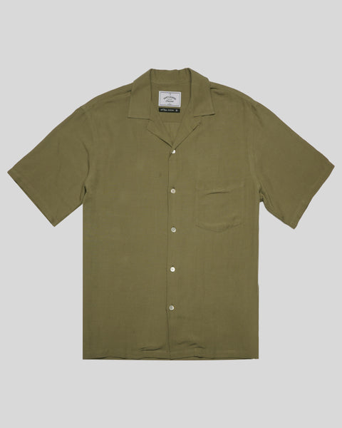 olive short sleeve shirt product front