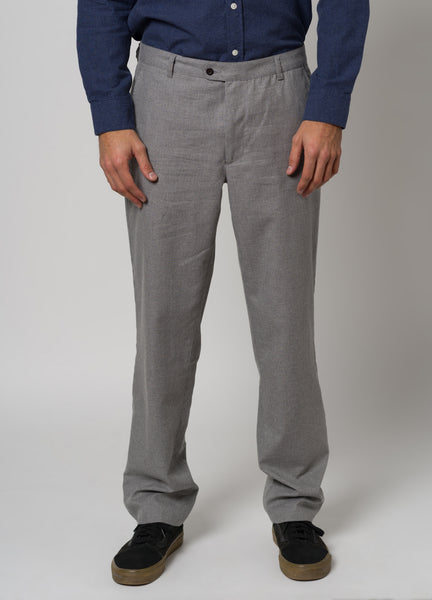 CLASSIC FLANNEL TROUSERS - LIGHT GREY