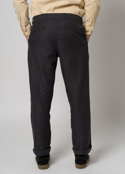 CLASSIC FLANNEL TROUSERS - GREY