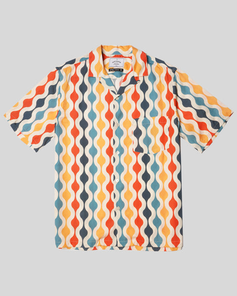 pattern printed short sleeve shirt product front