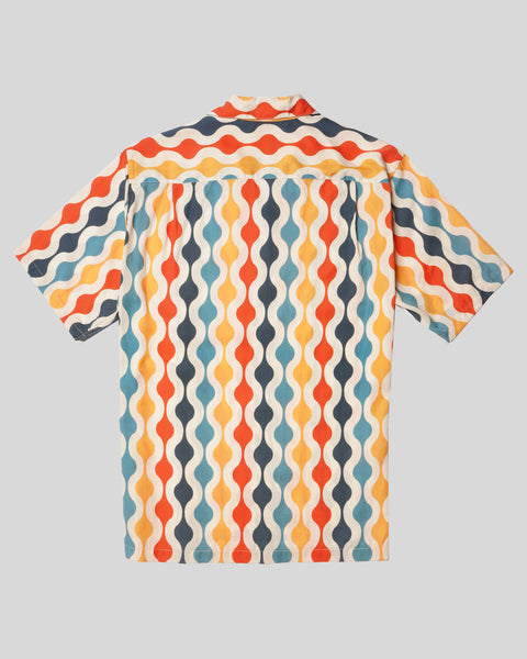 pattern printed short sleeve shirt product back