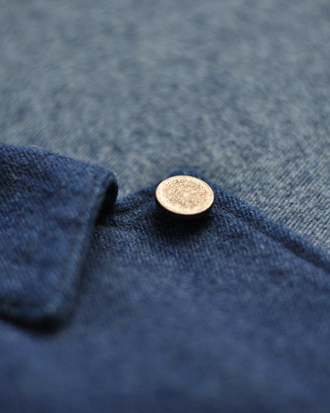 brushed denim jacket detail button