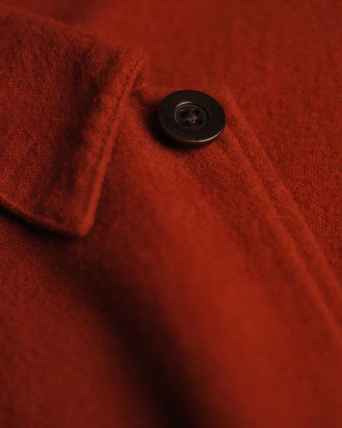 flannel jacket red detail button