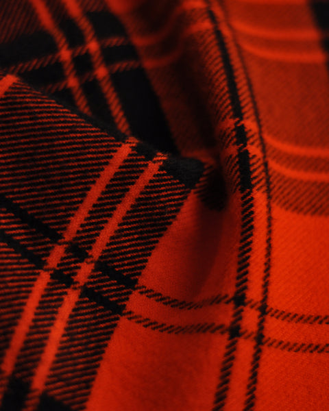 flannel shirt plaid red detail fabric