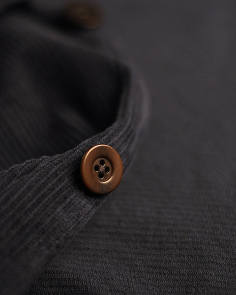 corduroy jacket navy blue detail button