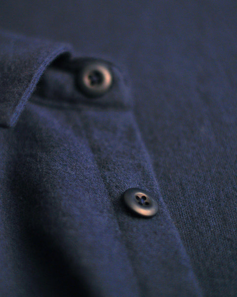 flannel jacket navy detail button