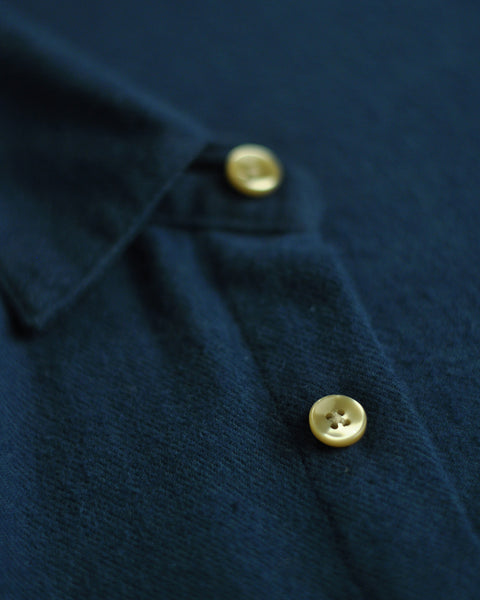 flannel shirt blue detail button