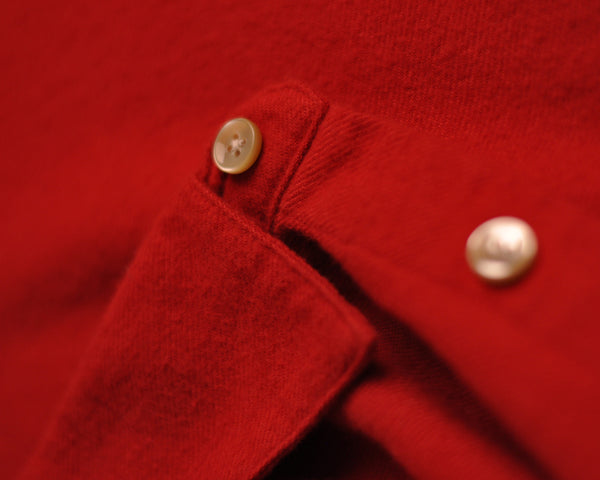 flannel shirt red detail button