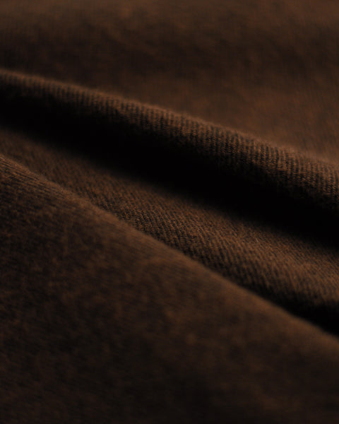flannel shirt brown detail fabric