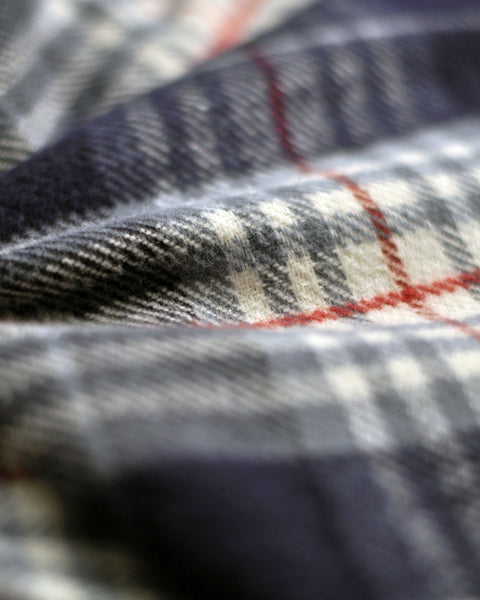 flannel shirt plaid blue and white detail fabric