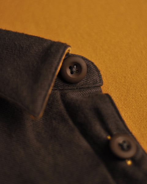 flannel reversible graphite detail button