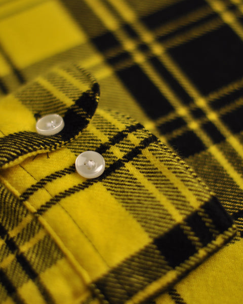 vila yellow shirt detail button sleeve