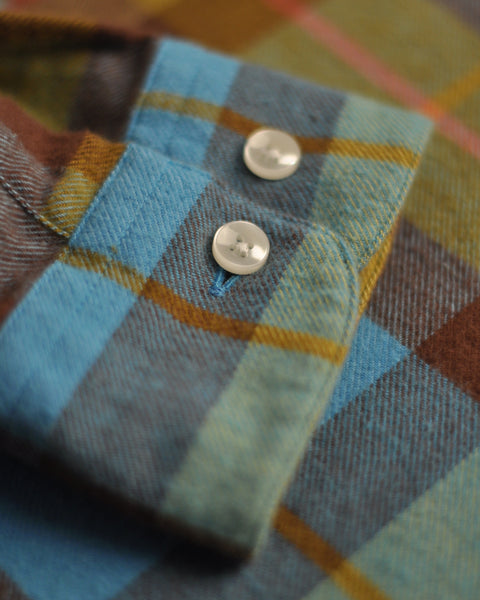 friendly check shirt detail button