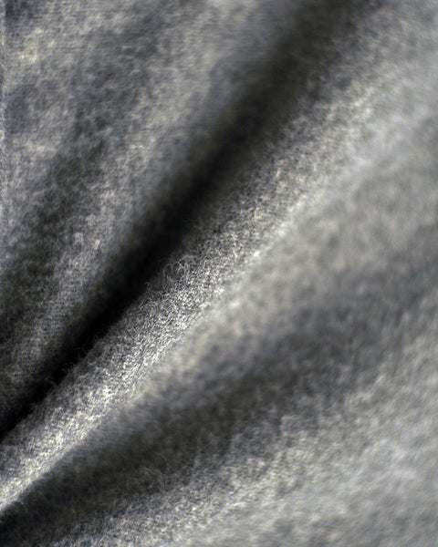 flannel jacket grey detail fabric