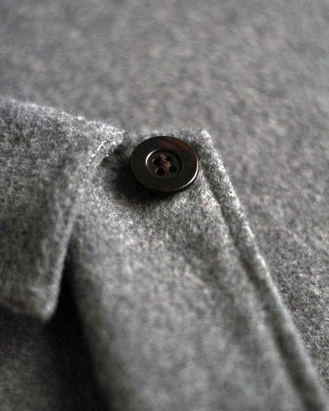 flannel jacket grey detail button