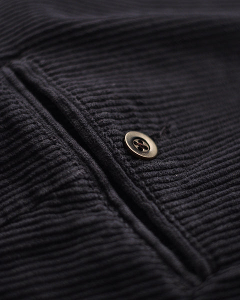 corduroy trousers navy detail button