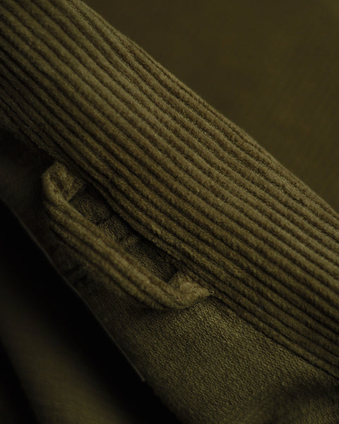 corduroy jacket olive detail collar
