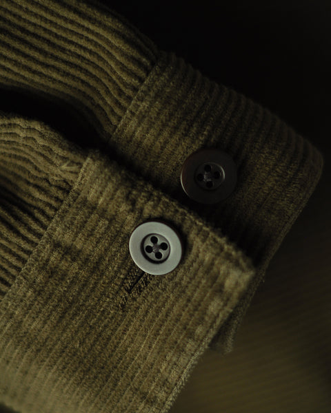 corduroy jacket olive detail buttons
