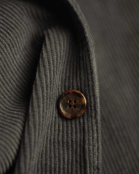 corduroy jacket grey detail button