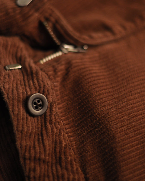 corduroy trousers brown detail button