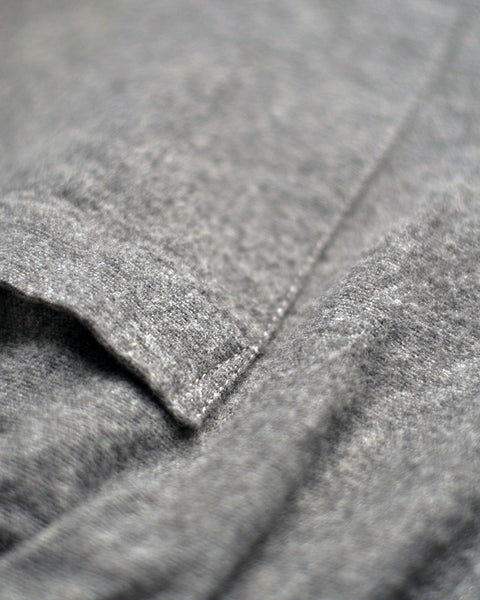 flannel trousers grey detail fabric