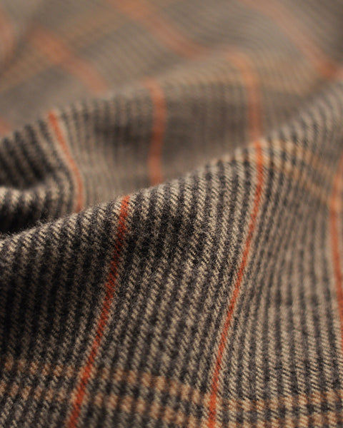 flannel shirt striped grey orange detail fabric