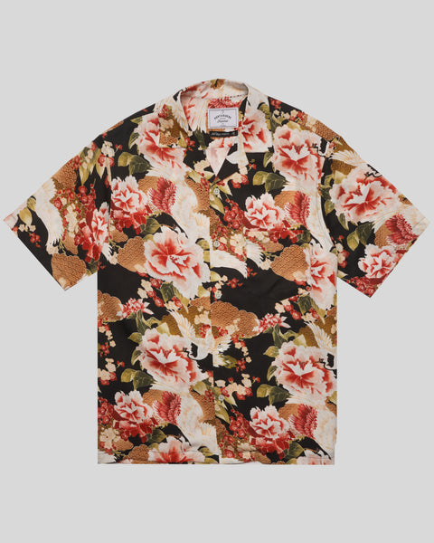 flower printed short sleeve shirt product front