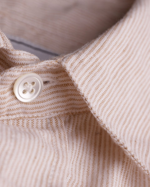 striped toasted short sleeve shirt detail button