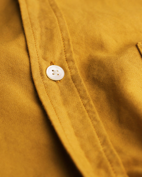mustard long sleeve shirt oxford detail button