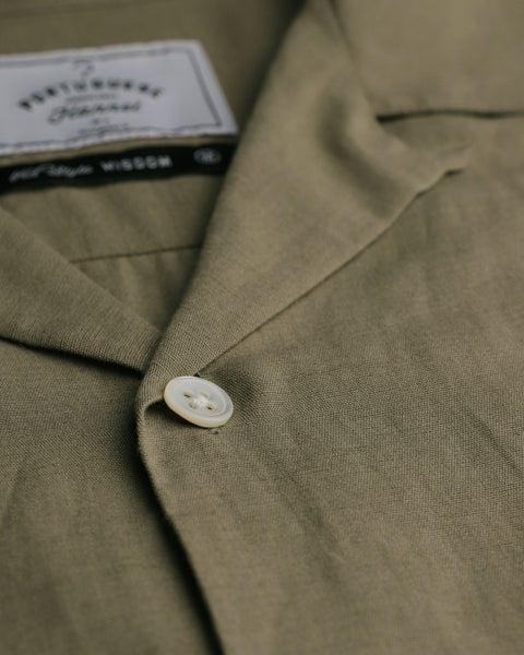 olive short sleeve shirt detail button
