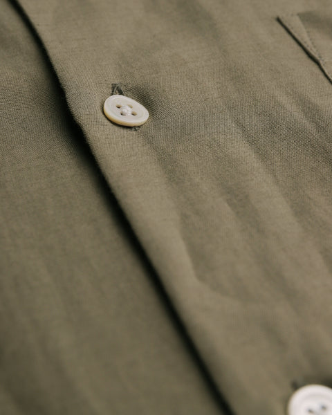 olive short sleeve shirt detail buttons