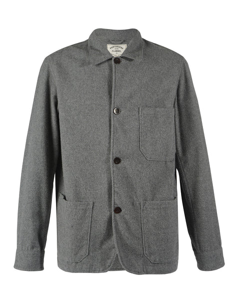 flannel jacket grey product front