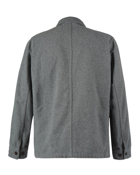 flannel jacket grey product back